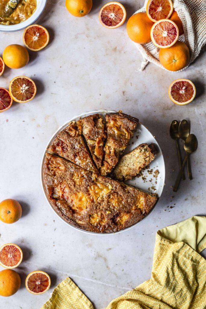 Polenta Orangen Kuchen-19
