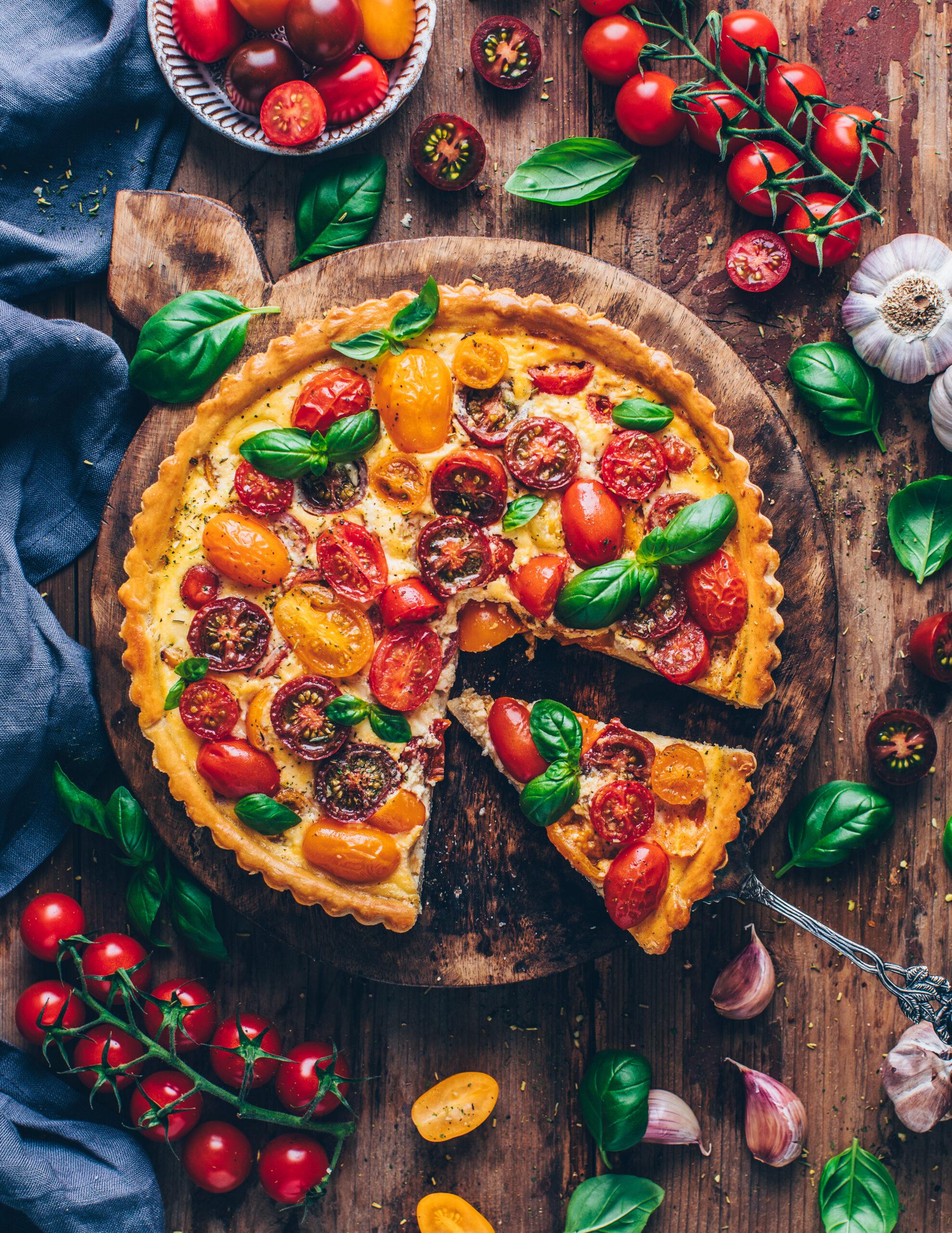 Vegane Tomaten-Quiche